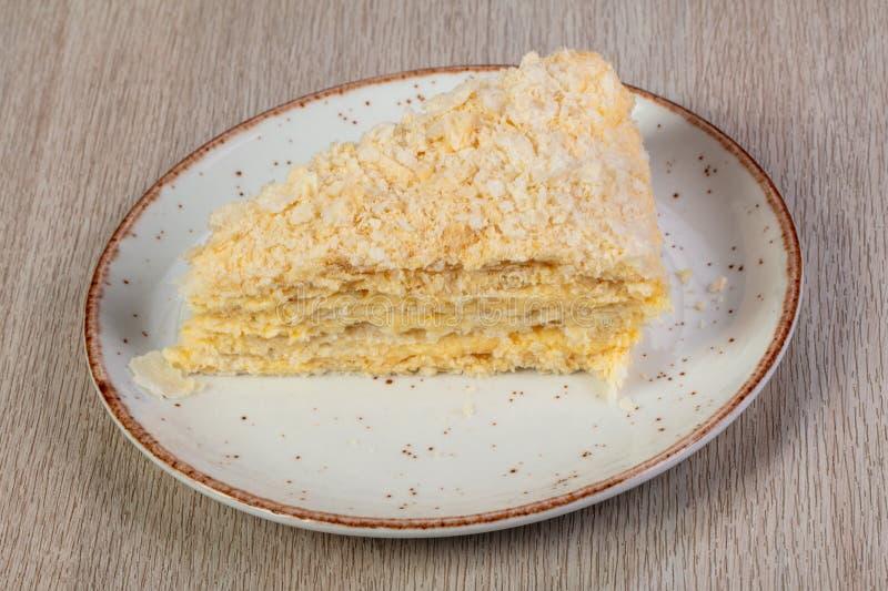 Gelaagd Napoleon Cake stock foto
