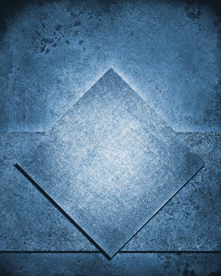 Gelaagde abstracte blauwe achtergrond in kleur van denim de blauwe Jean stock illustratie