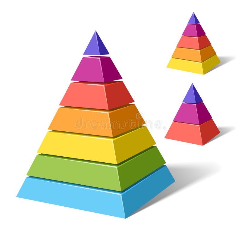 Gelaagde piramides royalty-vrije illustratie