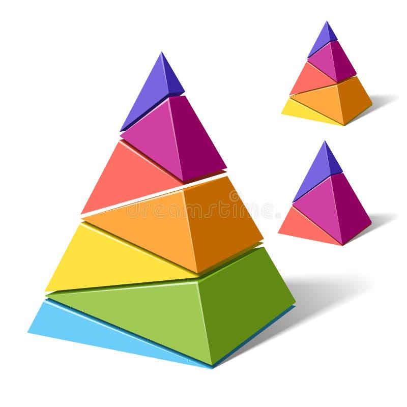 Gelaagde piramides stock illustratie
