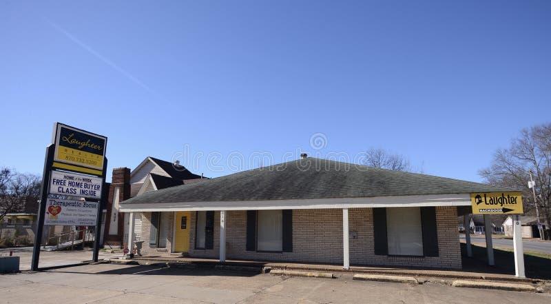 Gelachwerkelijkheid, West-Memphis, Arkansas stock fotografie
