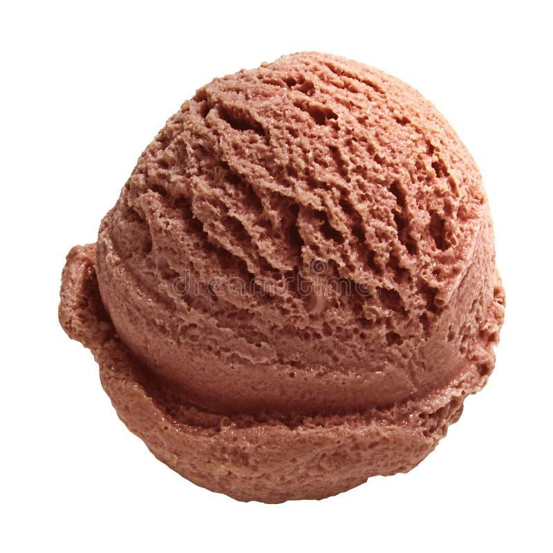 Download Gelado de chocolate imagem de stock. Imagem de branco - 12804695