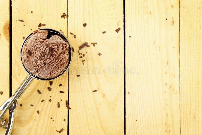 Gelado de chocolate imagens de stock