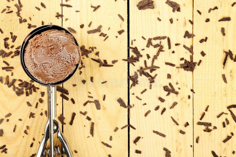 Gelado de chocolate foto de stock royalty free