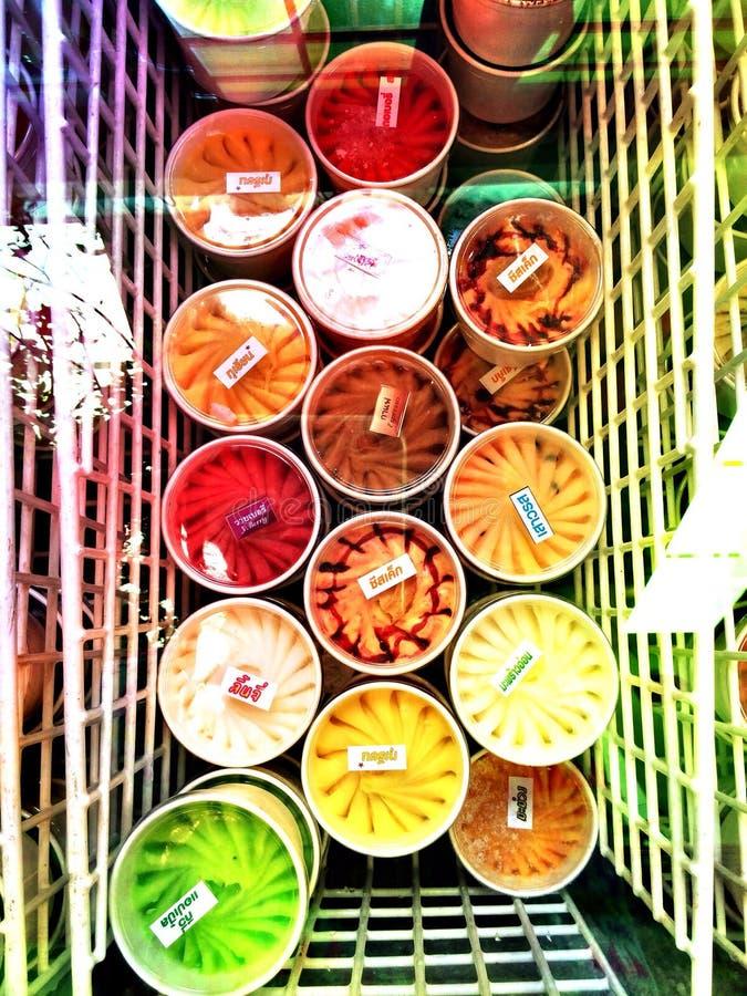 Gelado de Tailândia do fruto fotos de stock