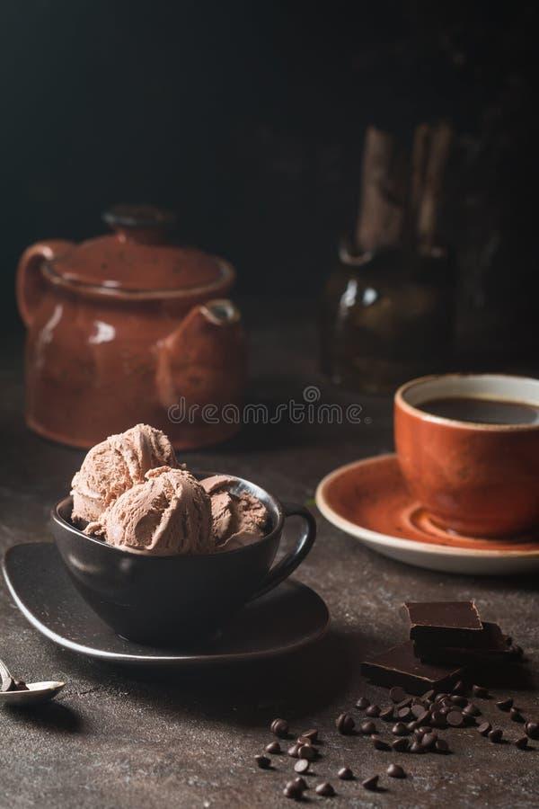 Gelado do café do chocolate imagem de stock royalty free