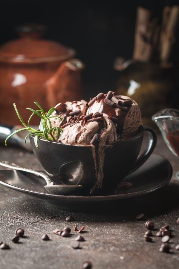 Gelado do café do chocolate imagens de stock