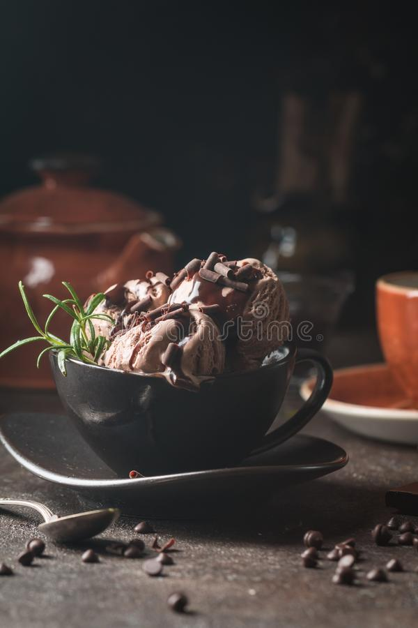 Gelado do caf? do chocolate imagem de stock royalty free