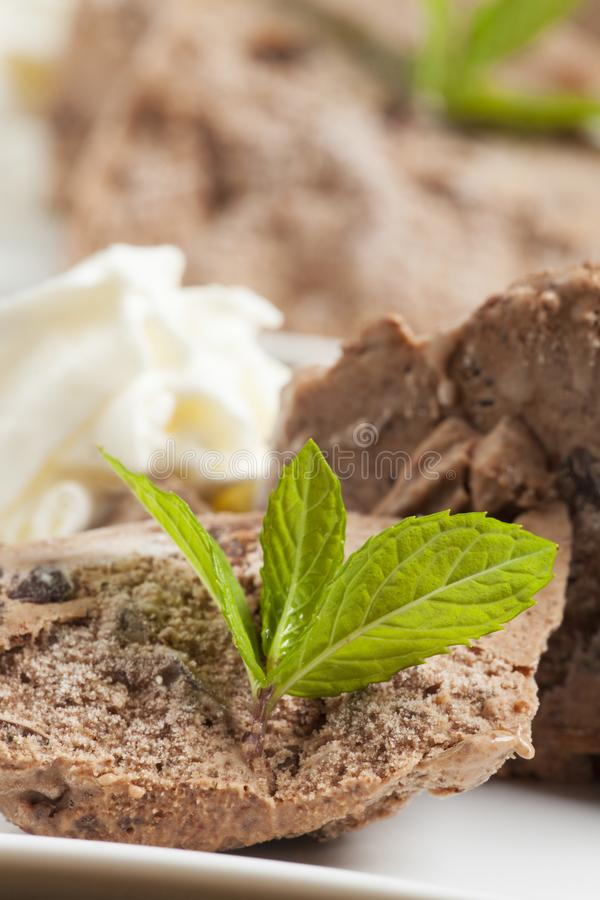 Gelado do chocolate fotos de stock