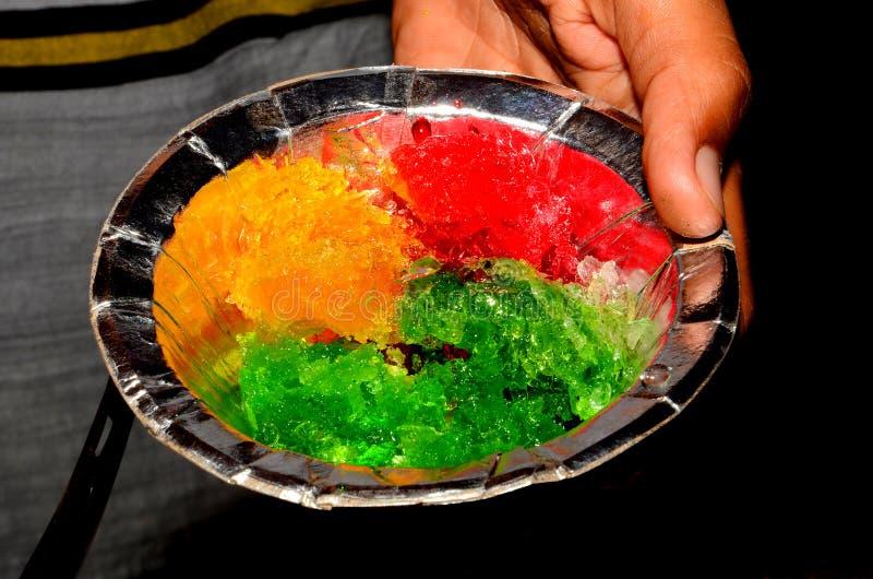 Gelado indiano do balll do gelo do gelado do gola de Barf fotos de stock