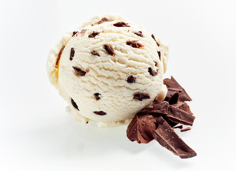 Gelado italiano gourmet de chocolate do stacciatella imagem de stock royalty free