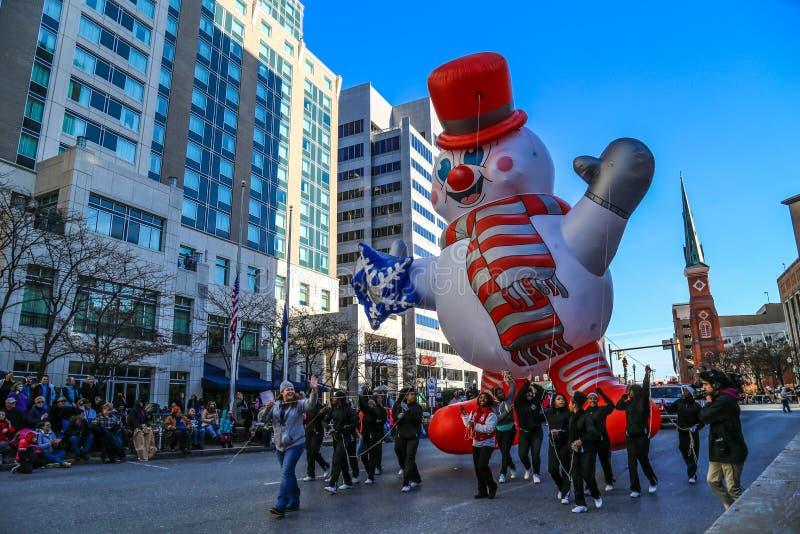 Gelado o balão do boneco de neve fotografia de stock royalty free