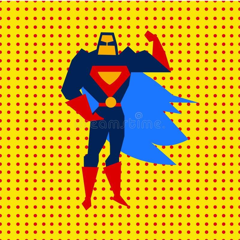 Gelande Superman Vectorillustratie vector illustratie