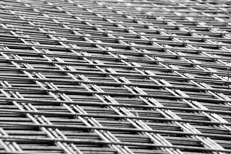 Gelast netwerk van staalversterking royalty-vrije stock afbeeldingen