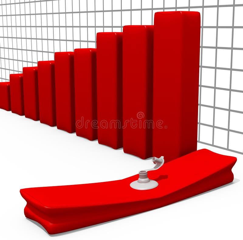 Gelaten leeglopen de Grafiek van de voorraad royalty-vrije stock afbeeldingen