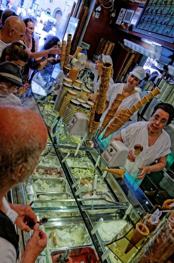 Gelateria Di Piazza, San Gimignano zdjęcia stock