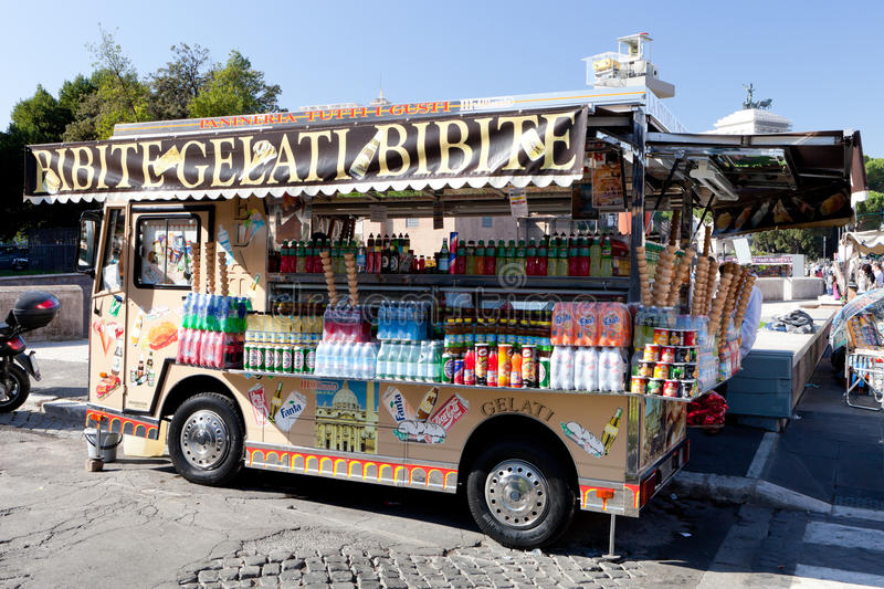 Gelati Truck. Gelati ice cream truck selling drinks and other refreshments royalty free stock photography