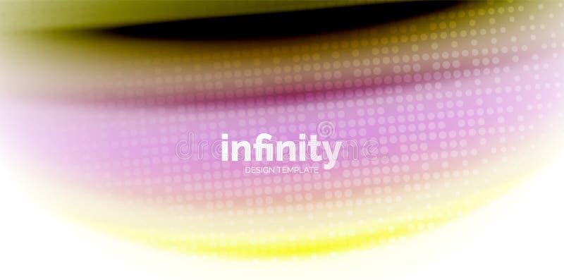 Gelatieren Sie Regenbogenartfarben der flüssigen Flüssigkeit des Gelees flüssige, abstrakten Hintergrund der Welle, modernes mini vektor abbildung