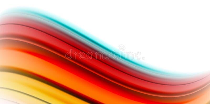Gelatieren Sie Regenbogenartfarben der flüssigen Flüssigkeit des Gelees flüssige, abstrakten Hintergrund der Welle, modernes mini lizenzfreie abbildung