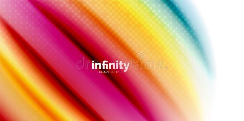 Gelatieren Sie Regenbogenartfarben der flüssigen Flüssigkeit des Gelees flüssige, abstrakten Hintergrund der Welle, modernes mini stock abbildung