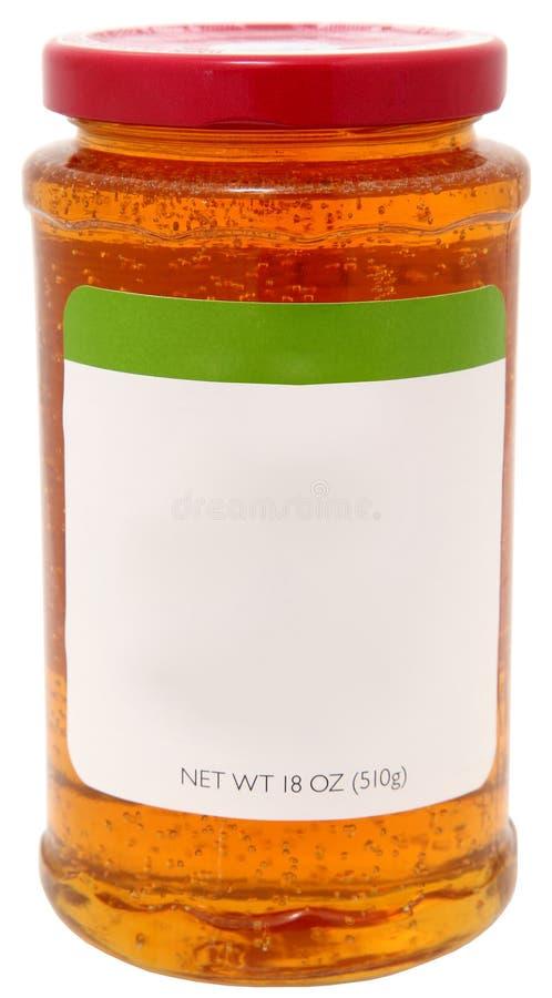 Gelatina di Apple con il contrassegno in bianco fotografie stock