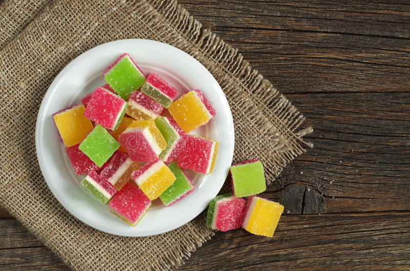 Gelatina di frutta candita fotografia stock