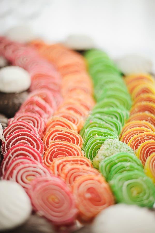 Gelatina di frutta candita (giuggiola) fotografia stock libera da diritti