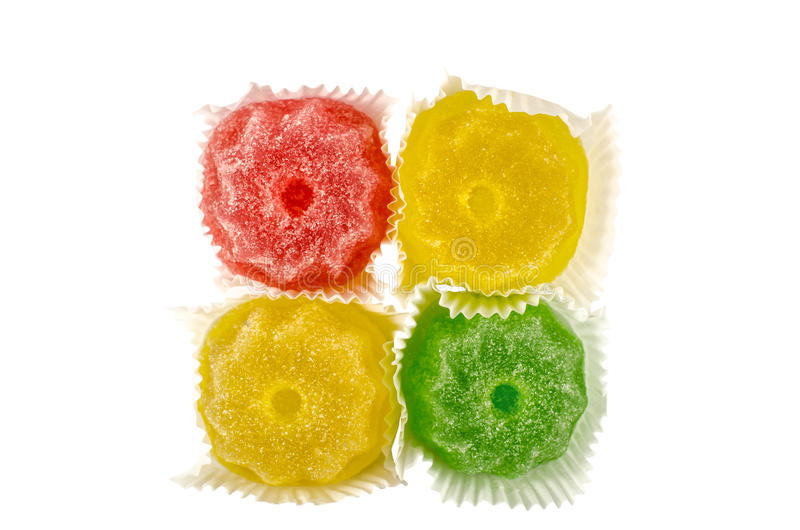 Gelatina di frutta candita variopinta immagini stock