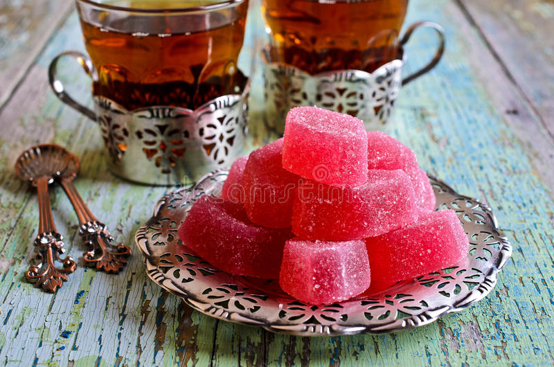 Gelatina di rosa di Candy fotografia stock libera da diritti