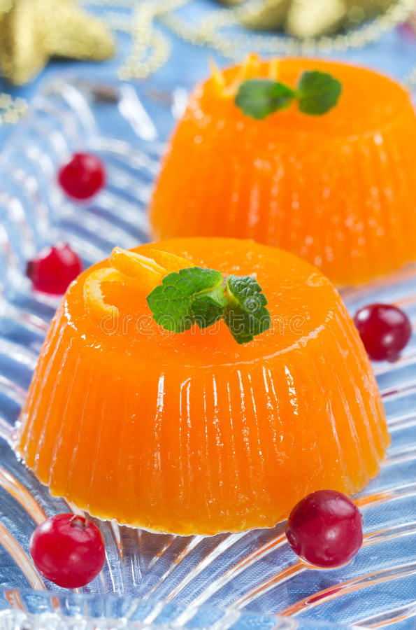 gelatina Zucca-arancio immagine stock libera da diritti