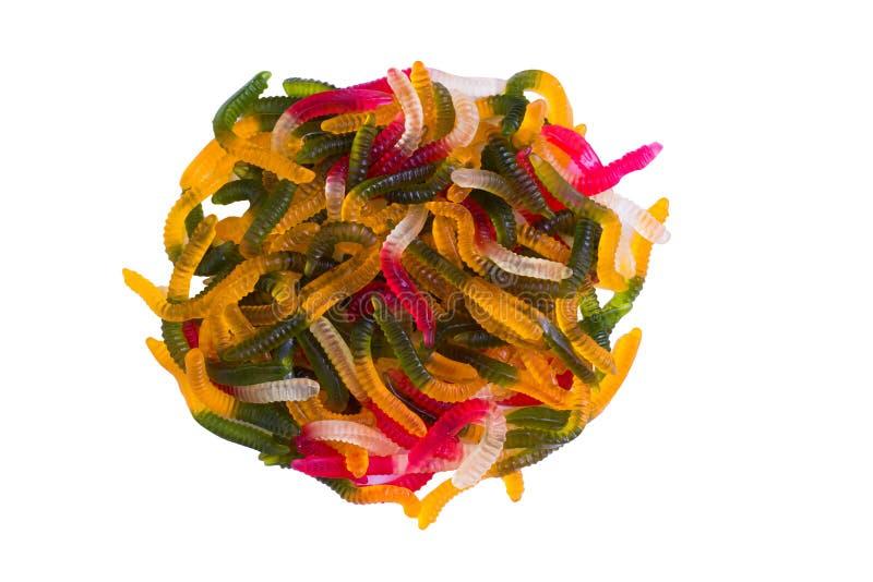 Gelatine los caramelos gomosos aislados en blanco foto de archivo
