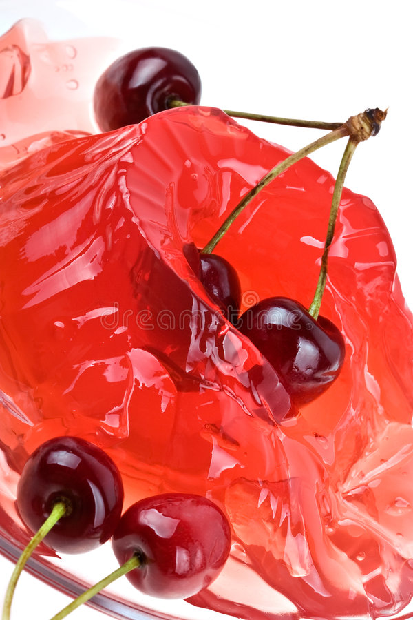 Gelatinizzi la priorità bassa della ciliegia immagini stock