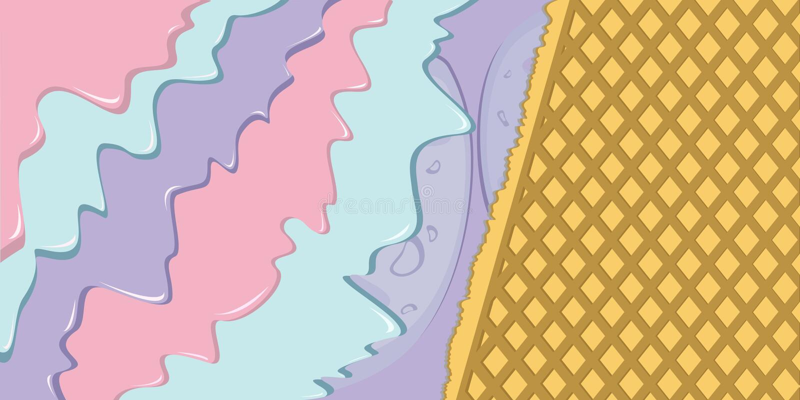 Gelato della bacca con l'illustrazione della cialda illustrazione vettoriale