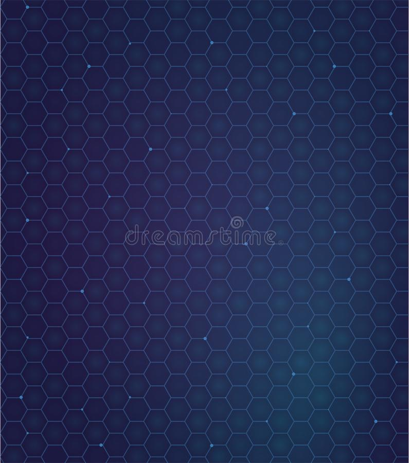 Gelaxy hexagon backdround. futuristic pattern. Gradient blu and violet colors. Pattern with comb. Gelaxy hexagon backdround. futuristic pattern. Gradient blu and stock illustration
