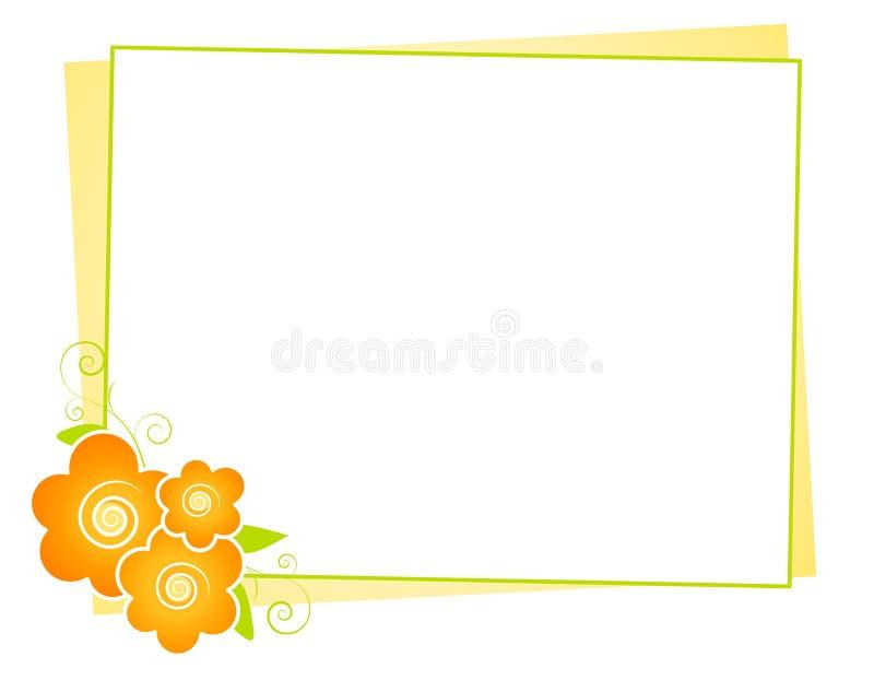 Gelb blüht Anmerkungs-Papier-Hintergrund stock abbildung