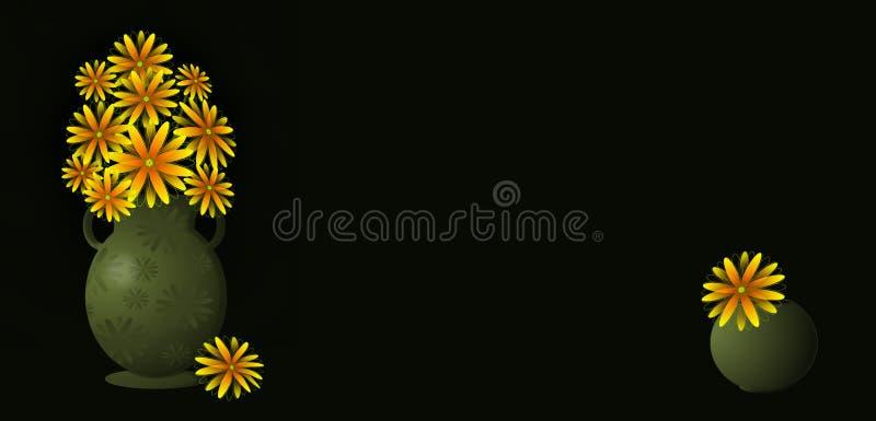 Gelb blüht Fahne stockfoto