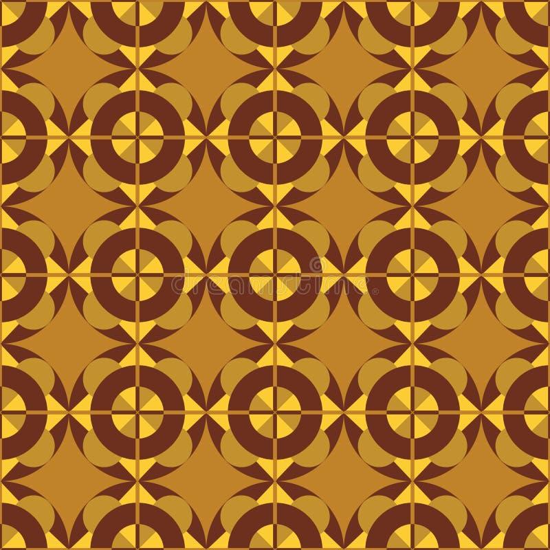 Gelb-brauner geometrischer Hintergrund der Zusammenfassung vektor abbildung