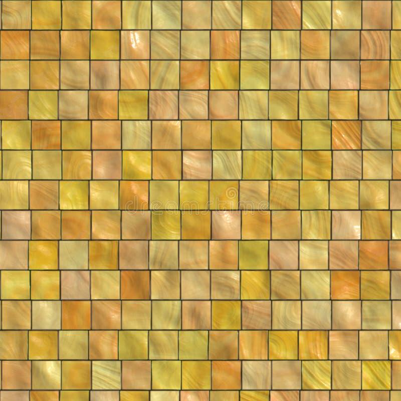 Gelb farbige Fliese stock abbildung
