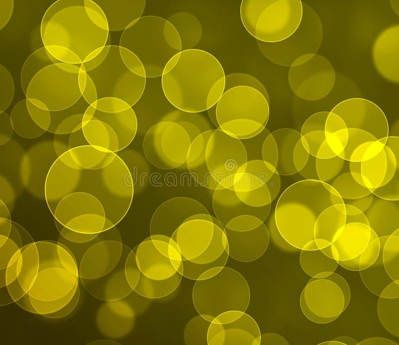 Gelb farbiger bokeh Hintergrund stockfoto