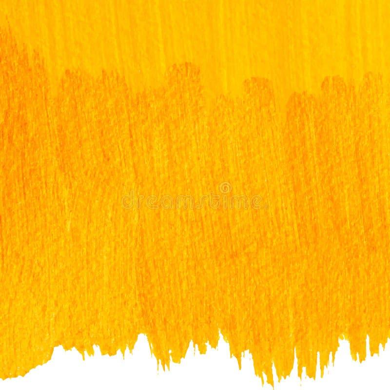 Gelb gemalter Vektorhintergrund lizenzfreie abbildung