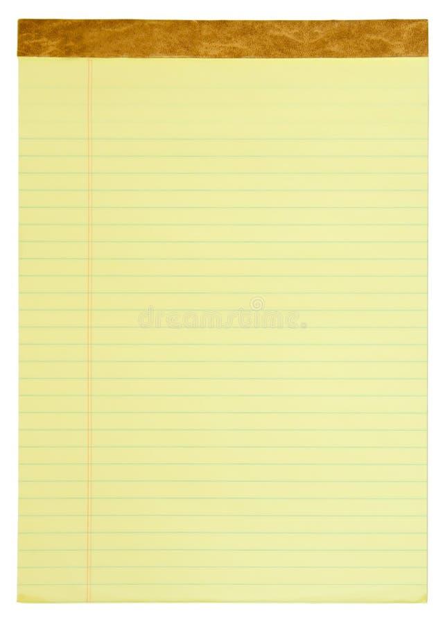 Gelb gezeichneter Kanzleibogenblock lizenzfreie stockfotos