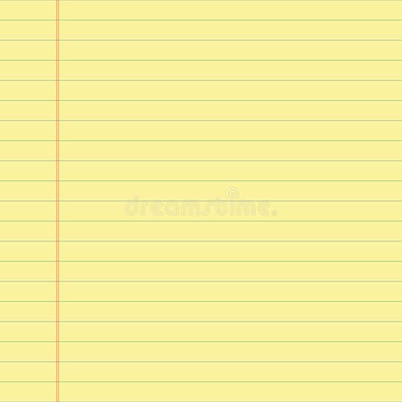 Gelb gezeichnetes Papier stock abbildung