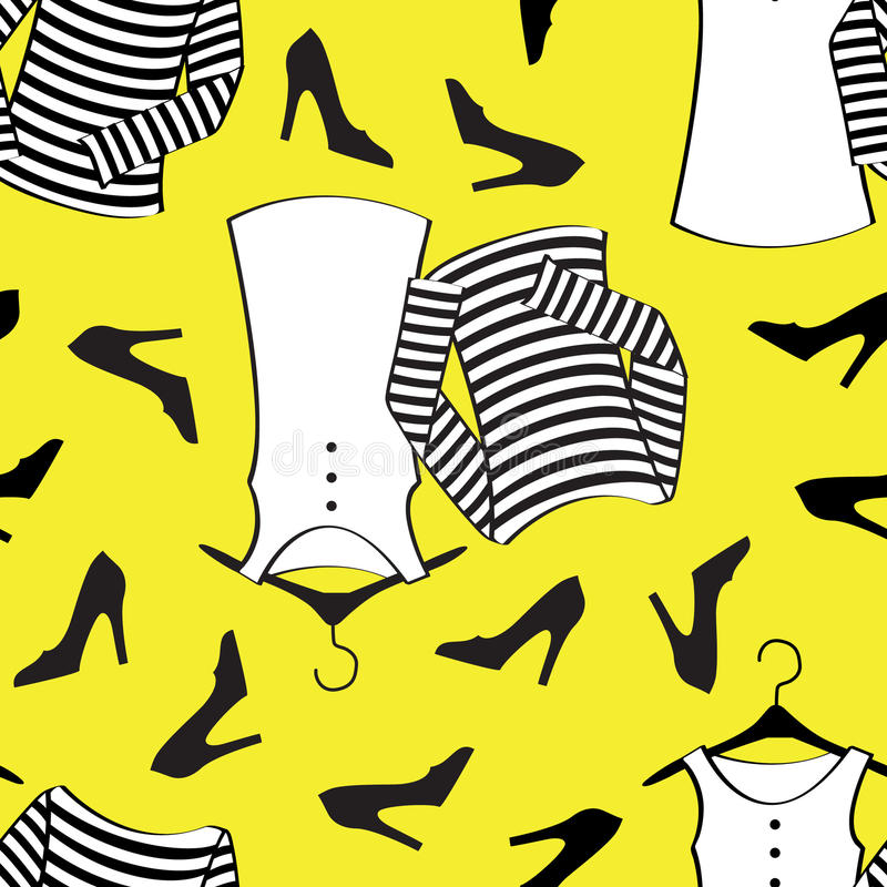 Gelb kleidet nahtloses Muster vektor abbildung