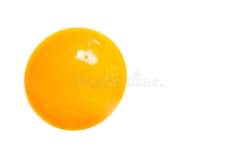 Gelb-orangees Eigelb stockfoto