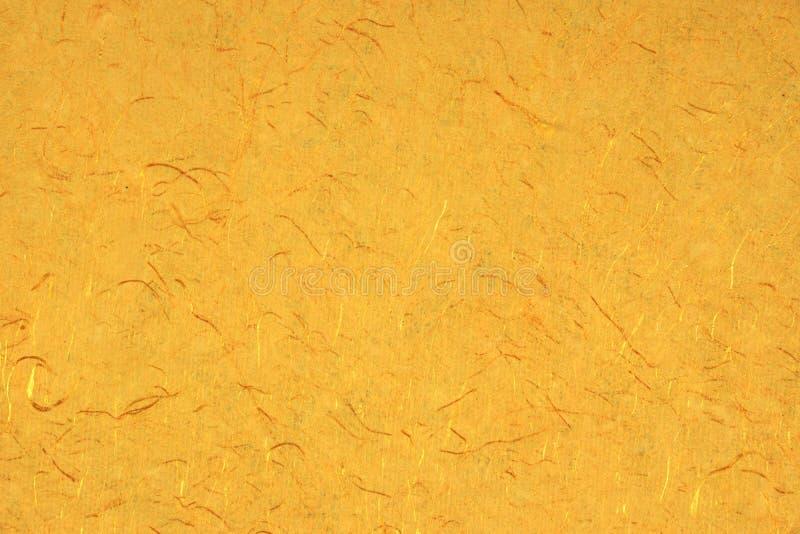 Gelb-orangees Gold-Amber Citrine Color Mulberry Handmade-Papier B lizenzfreie stockbilder