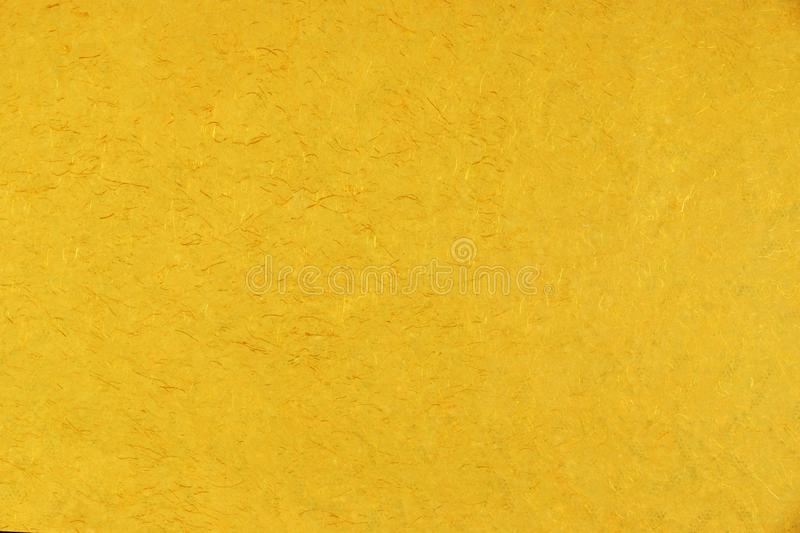 Gelb-orangees Gold-Amber Citrine Color Mulberry Handmade-Papier B stockfotografie