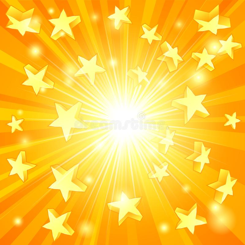 Gelb Stars Hintergrund stock abbildung