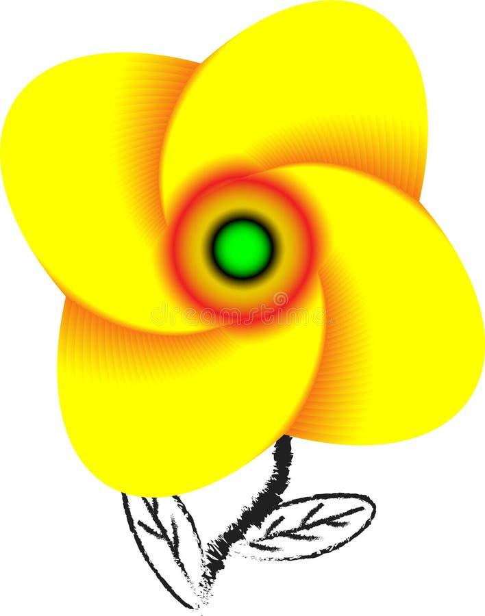Gelbe abstrakte Blume ОÑ- Ð ½ Ð ¾ Ð ² Ð ½ Ñ ‹Ðµ RGBextraordinary schaut bezaubernd stock abbildung