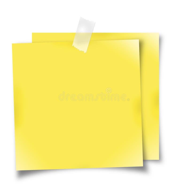 Gelbe Anzeigenanmerkungen stock abbildung