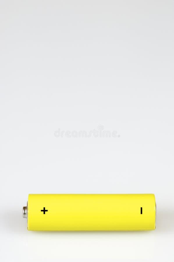 Gelbe Batterie stockfoto